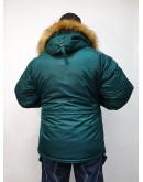 Куртка Аляска Husky SHORT Dark Petrol / Orange